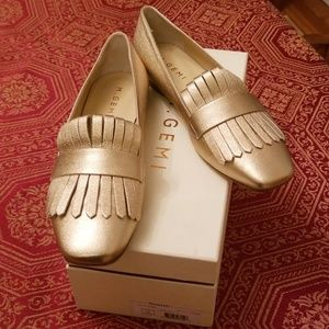 🆕️M Gemi The Fato flats, champagne, leather,Italy
